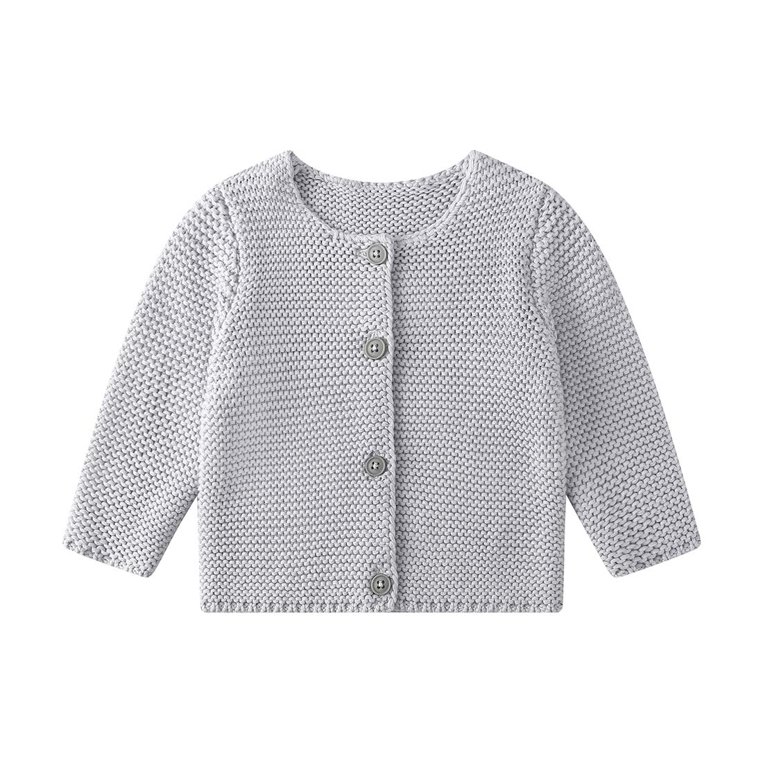 Baby Girls\' Long Sleeve Knitted Cardigan Sweaters Toddler Button-Down Cotton Coat Outerwear 71YA6xIRD9L