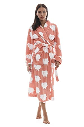 46d9c5a63e Cozy   Curious Women s Comfy Sheep Robe Peach Soft Warm Fleece at ...