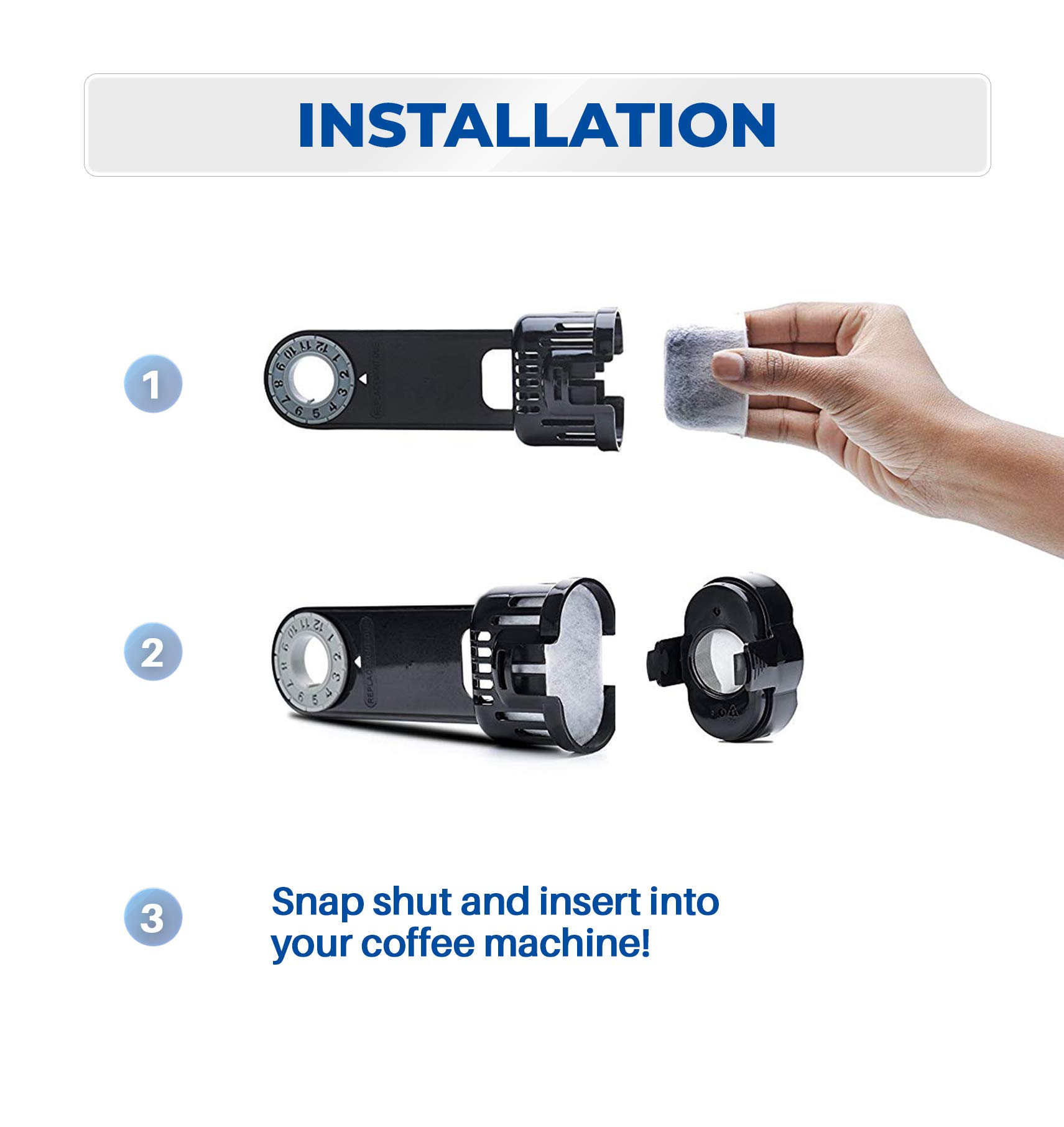 Keurig Starter Kit Replacement for Keurig 1.0 Classic Brewers - Includes Filter Holder And 6-pack of Keurig 1.0 Compatible Water Filters by K&J