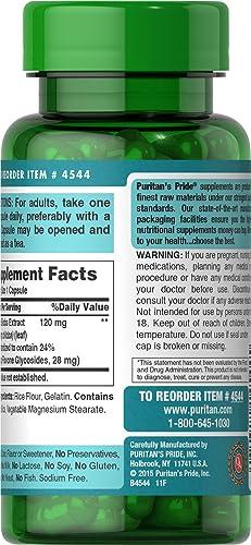 Puritan s Pride Ginkgo Biloba Standardized Extract 120 mg-100 Capsules