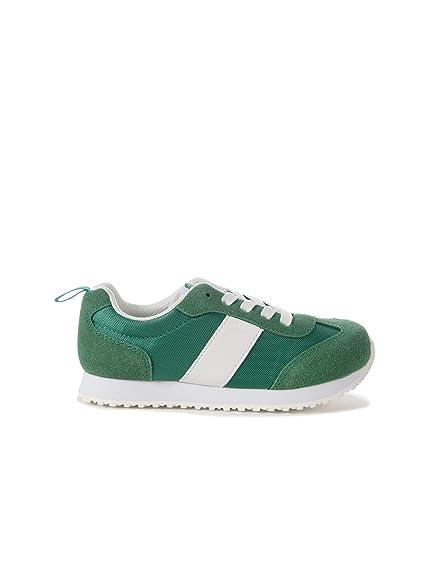 ZIPPY Boys Zapatillas Lista para Niño Low-Top Sneakers, Green (Alhambra 17