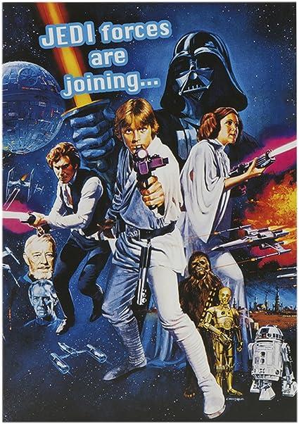 Label M Anniversaire Pour Enfant Star Wars Carte De Montage Amazon Fr Fournitures De Bureau