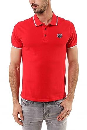 83fa6e1a06 Kenzo Authentic Men's Red Tiger Head Polo Shirt Cotton (Small ...