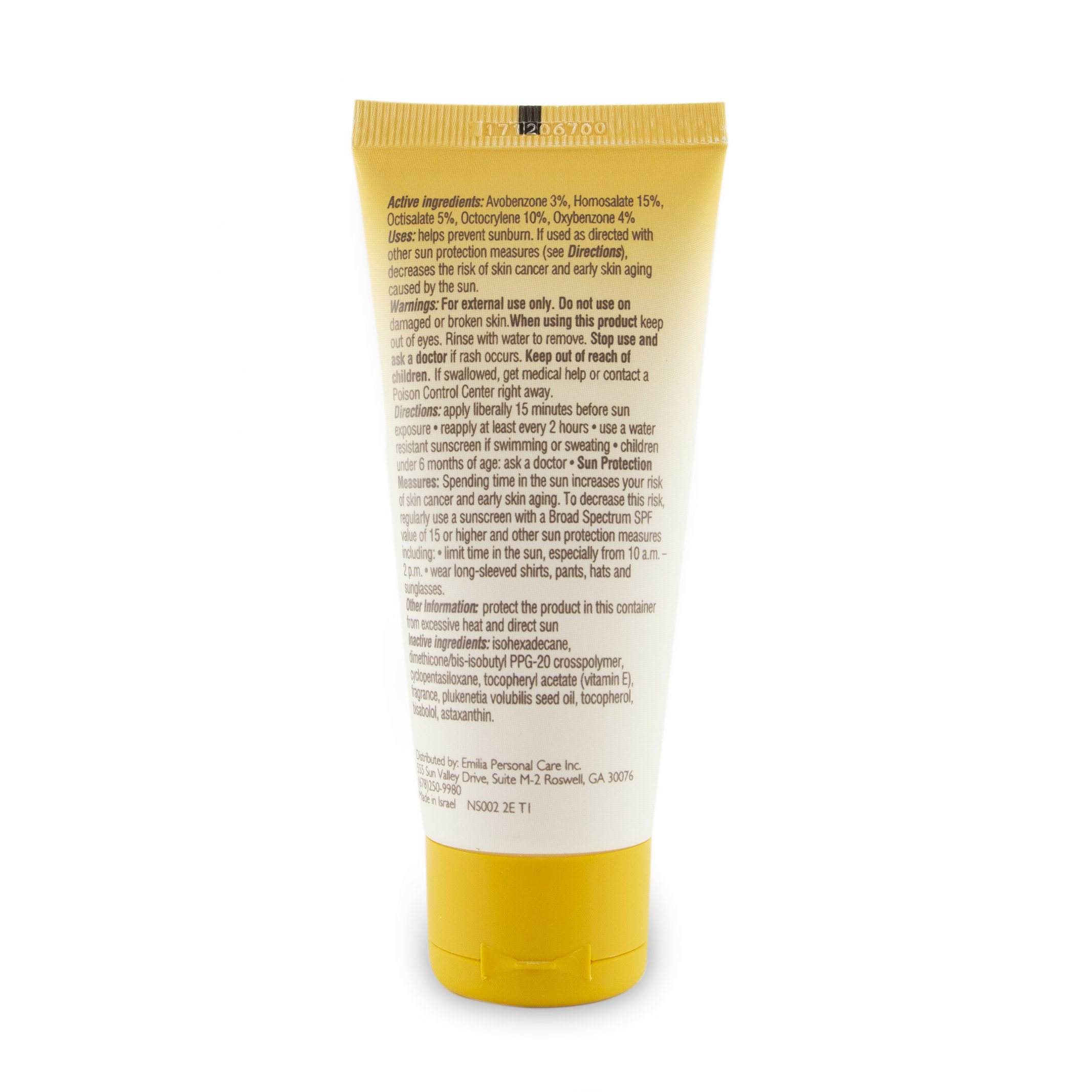Face Sunscreen Gel SPF 50 - Facial Sun Protection and Moisturizer For All Skin Types, Naked Sun by Emilia, Travel Size 1.69 FL. OZ. by Emilia (Image #3)