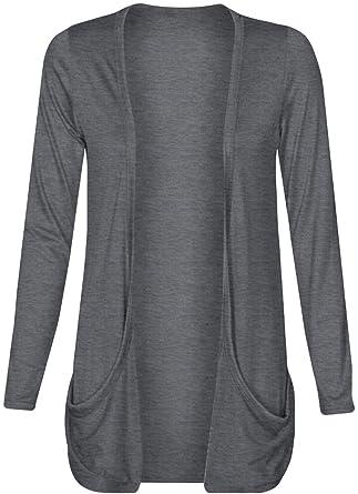 Ladies Women Boyfriend Open Cardigan with Pockets at Amazon ...