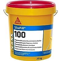 SikaFill-100, Revestimiento elástico para impermeabilización de cubierta, Gris