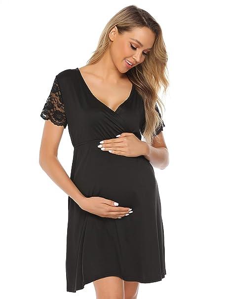 06c47b3a9c525 L&Y Women's Maternity/Labor/Delivery/Nursing Nightgown Dress Pregnancy Gown  for Hospital Breastfeeding