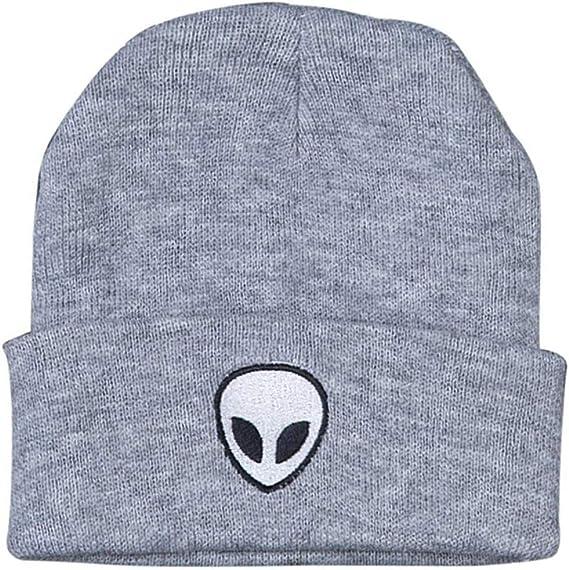 Dunpaiaa Skull Caps Beach Volleyball Winter Warm Knit Hats Stretchy Cuff Beanie Hat Black