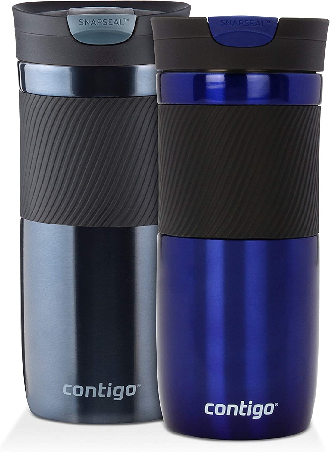 Contigo SnapSeal Byron Vacuum-Insulated Stainless Steel Travel Mug, 16 oz, Deep Sea and Stormy Weather
