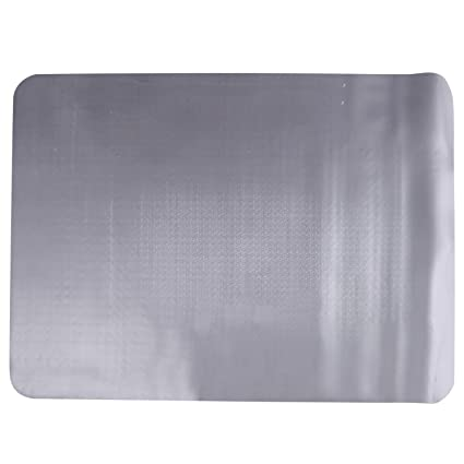 HOMCOM Alfombra Protectora para Silla de Oficina 90x120cm Protector Suelo Enmoquetado (Cuadrilongo, Sin Picos