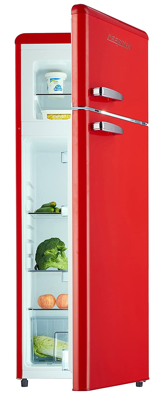 frigo retro rouge cool frigo retro frigorifero combinato per uso ad armadio nero con. Black Bedroom Furniture Sets. Home Design Ideas