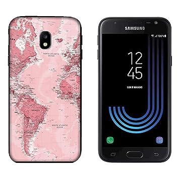 Funda Galaxy J3 2017 Carcasa Samsung Galaxy J3 2017 Mapa del ...