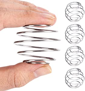 Milkshake Protein Shaker Ball, 4 Pack Food Grade Wire Mixer Mixing Whisk Ball, 304 Stainless Steel Home Cooking Mixer Cook Tool Spring ball
