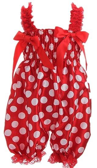 190625f61ed8 Amazon.com  Fairy Season Baby Girl Lace Petti Ruffle Rompers Newborn Infant  One-Piece Jumpsuit  Baby