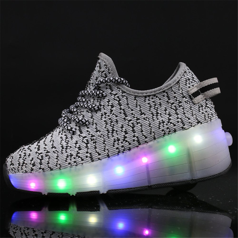 Men's/Women's strengths Unisex LED Light up Shoes with Single Single Single Wheel Roller Skate Sneakers for Men Women Children High quality and low overhead Comfortable touch Breathable shoes VB7344 a86fe0