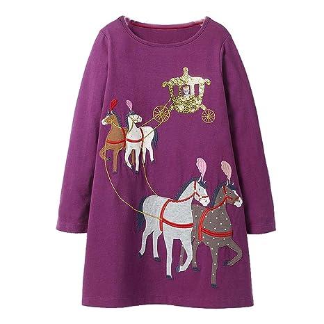 1a15373897d Amazon.com  Girls Dress Party Kids Dresses for Girls Clothes Winter ...