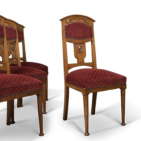 London Fine Antiques antico set di 4 sedie per sala da pranzo ...
