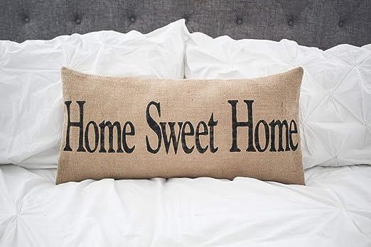 alerie Sassoon Home Sweet Home - Funda de cojín Lumbar de ...