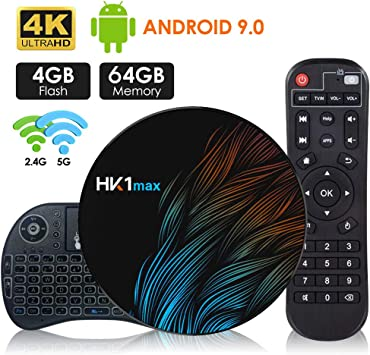 Android 9.0 TV Box【4G+64G】con Mini Teclado inalámbirco RK3328 Quad-Core 64bit Wi-Fi-Dual 5G/2.4G,BT 4.1, 4K*2K UHD H.265, HDMI, USB 3.0 Smart TV Box: Amazon.es: Electrónica