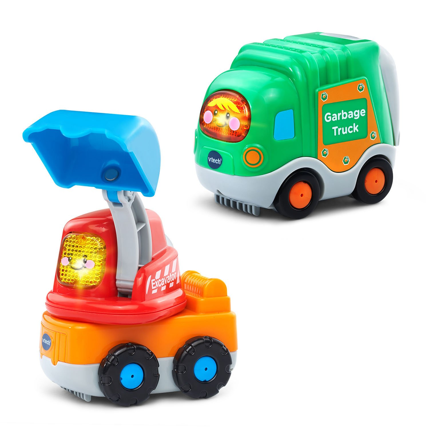 VTech Go! Go! Smart Wheels Garbage Truck and Excavator by VTech (Image #1)