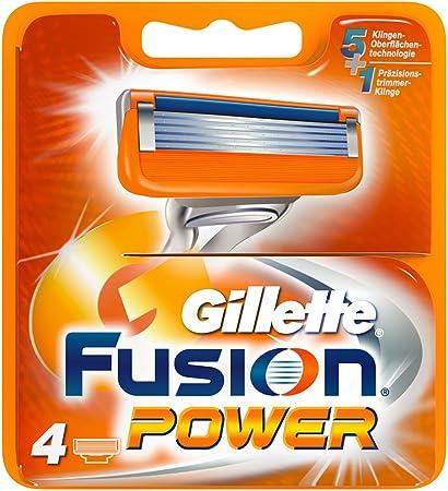 Gillette Fusion Power 4x - hojillas de afeitar (Men, Gillette ...