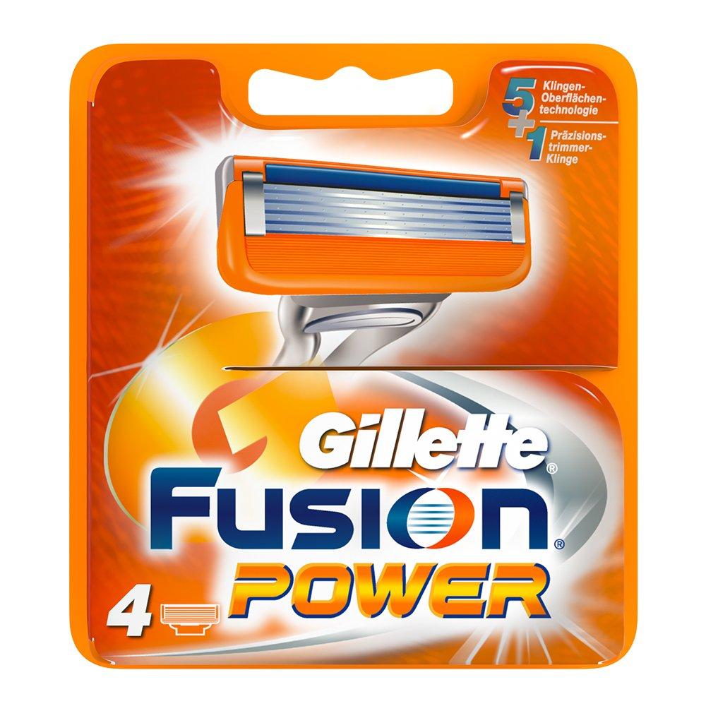Gillette Fusion Power 4x - hojillas de afeitar (Men, Gillette, ProGlide Power Fusion Power, 4 pieza(s)) 323821