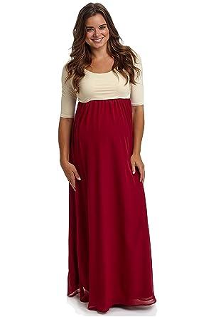 Maternity maxi chiffon dress