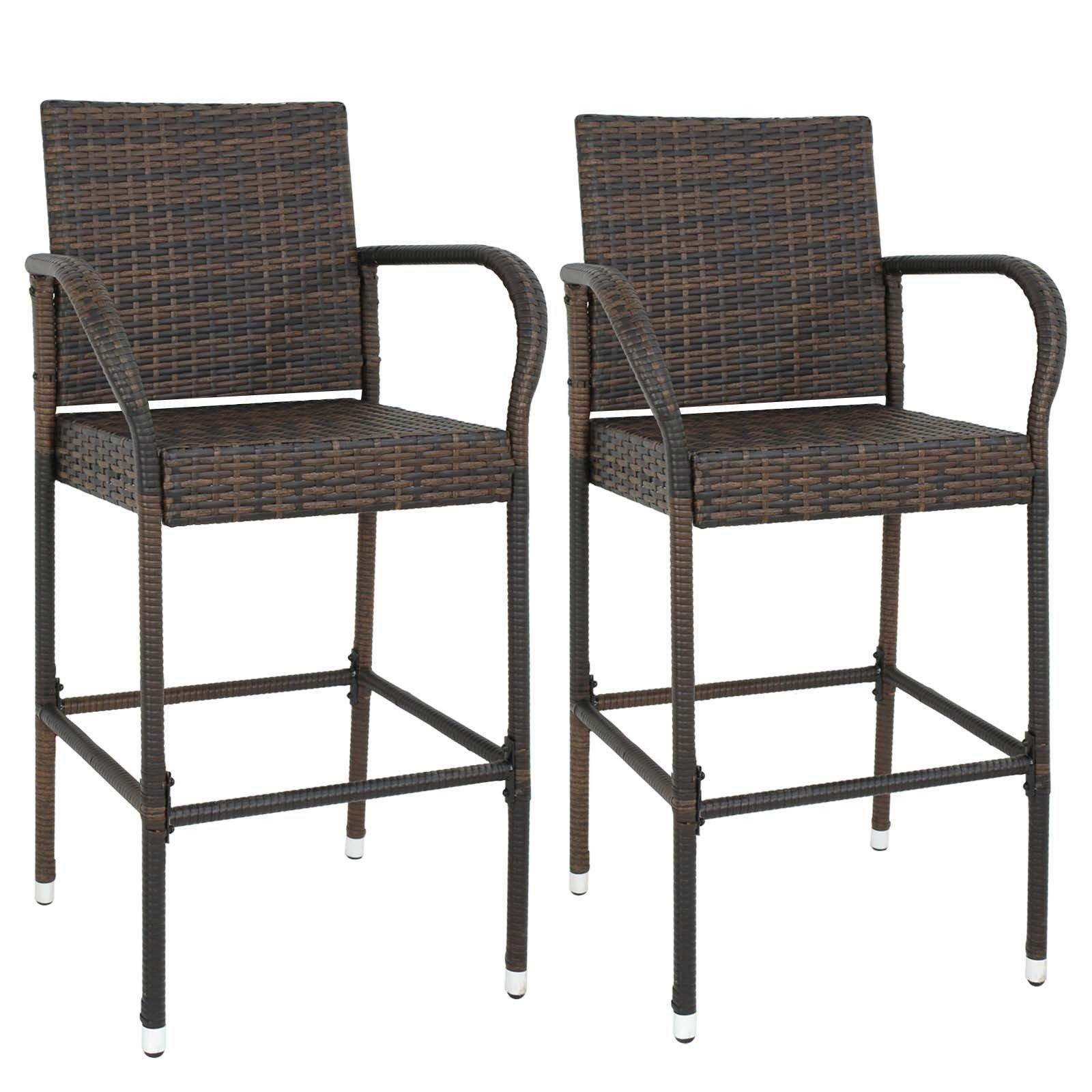 2 pcs Rattan Armrest Chair #GSMN