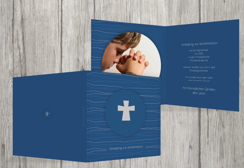 Kartenparadies Einladungskarte Konfirmation Wellen Kreuz, hochwertige hochwertige hochwertige Einladung zur Konfirmationsfeier inklusive Umschläge   10 Karten - (Format  145x145 mm) Farbe  WeinRot B01MZFQOP0 | Offizielle Webseite  | Marke  | Verbraucher zuerst  7108a0