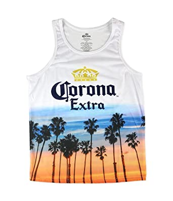 35c8ed5d414ec Corona Mens Extra Tank Top White S  Amazon.co.uk  Clothing