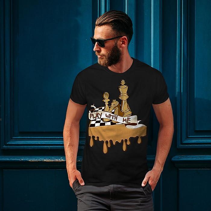 c32f49111 Amazon.com: wellcoda Play Chess with Me Mens T-Shirt, Game Graphic ...