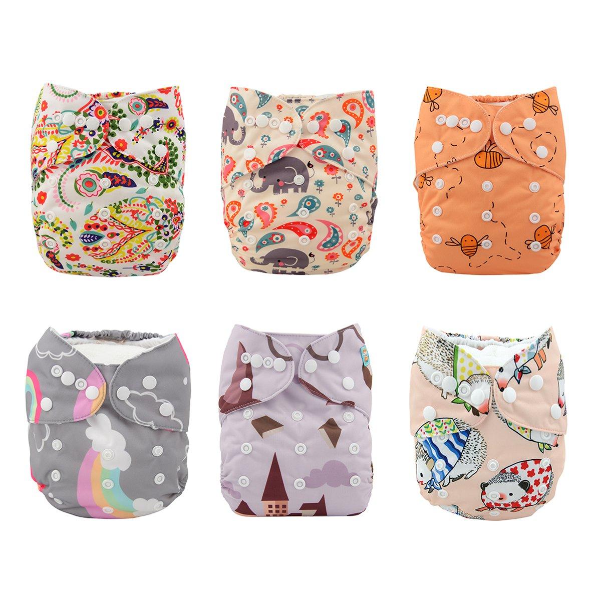 Bebé de tabla para diseño de juego de pajas DE se puede lavar a juego de bolsillos de almacenaje de tela impermeable y 6 piezas + bolsa de pañales de ...