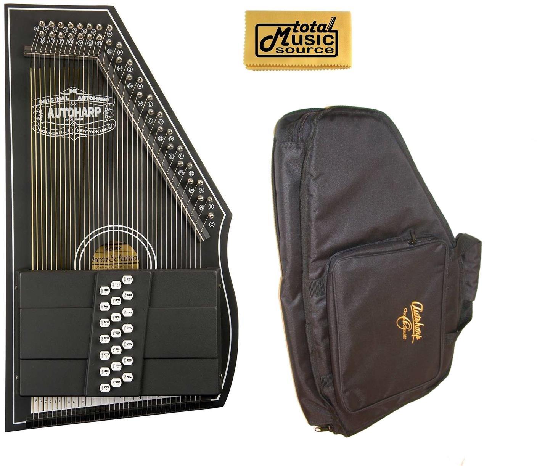 Oscar Schmidt 1930's Reissue Original Design Autoharp w/ Gig Bag, Black, OS73C