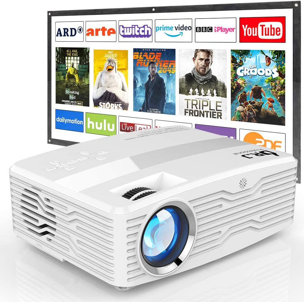 DR. J Professional 6800 Lumens LCD Projector – budget friendly projector for day light viewing
