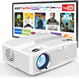 """[Native 1080P Projector with 100Inch Projector Screen] 6800Lumens LCD Projector Full HD Projector Max 300"""" Display…"""