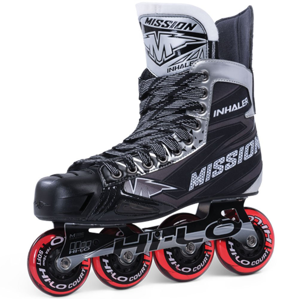 Bauer Mission Junior RH Inhaler Nls 05 Hockey Skate, Black, E 1.5