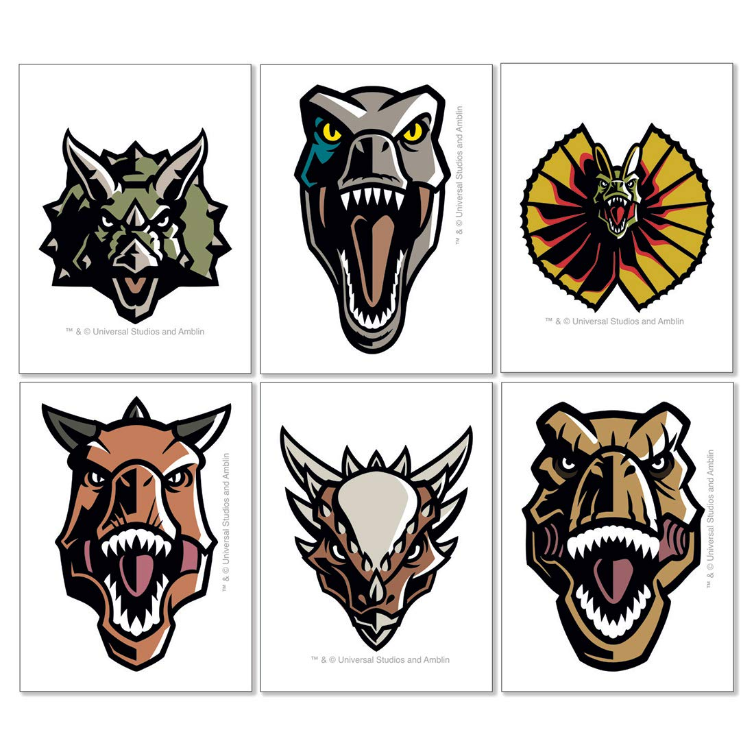 Jurassic World Temporary Tattoos - Prizes and Giveaways - 144 per Pack