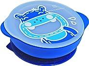 Tigela Com Sucção Com Tampa Hipopótamo, Marcus E Marcus, Azul, Pequeno