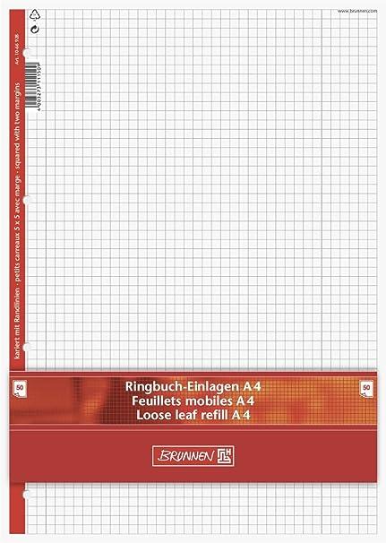 Brunnen - Papel perforado para archivador de anillas (A4, 70 g/m² ...