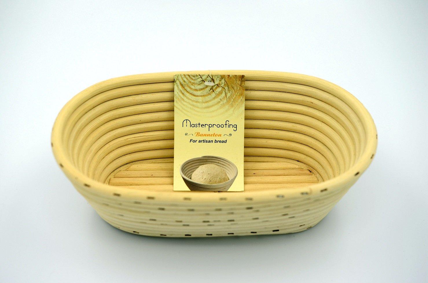 Masterproofing 2 Pcs Oval Banneton Proofing Basket(500g Dough) OB-22