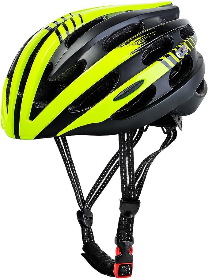 King Bike Casco de bicicleta, súper ligero, con luz trasera de ...