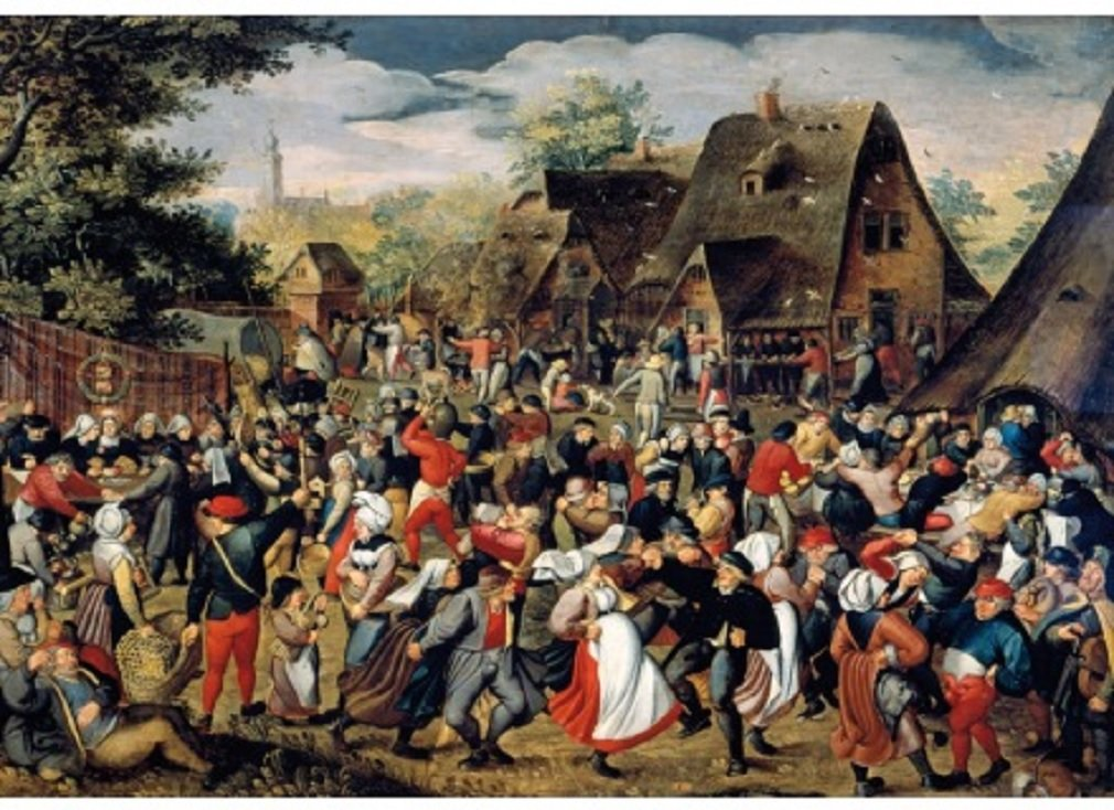 Wentworth Village Festival 500 Piece Wooden Pieter Brueghel the Younger Jigsaw Puzzle
