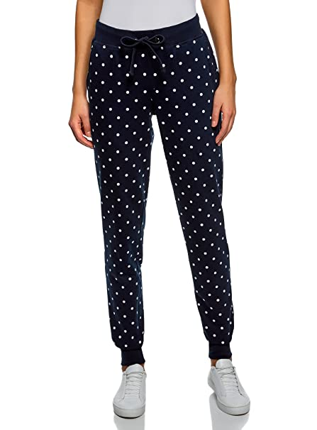 oodji Ultra Damen Jersey-Hose mit Bindebändern