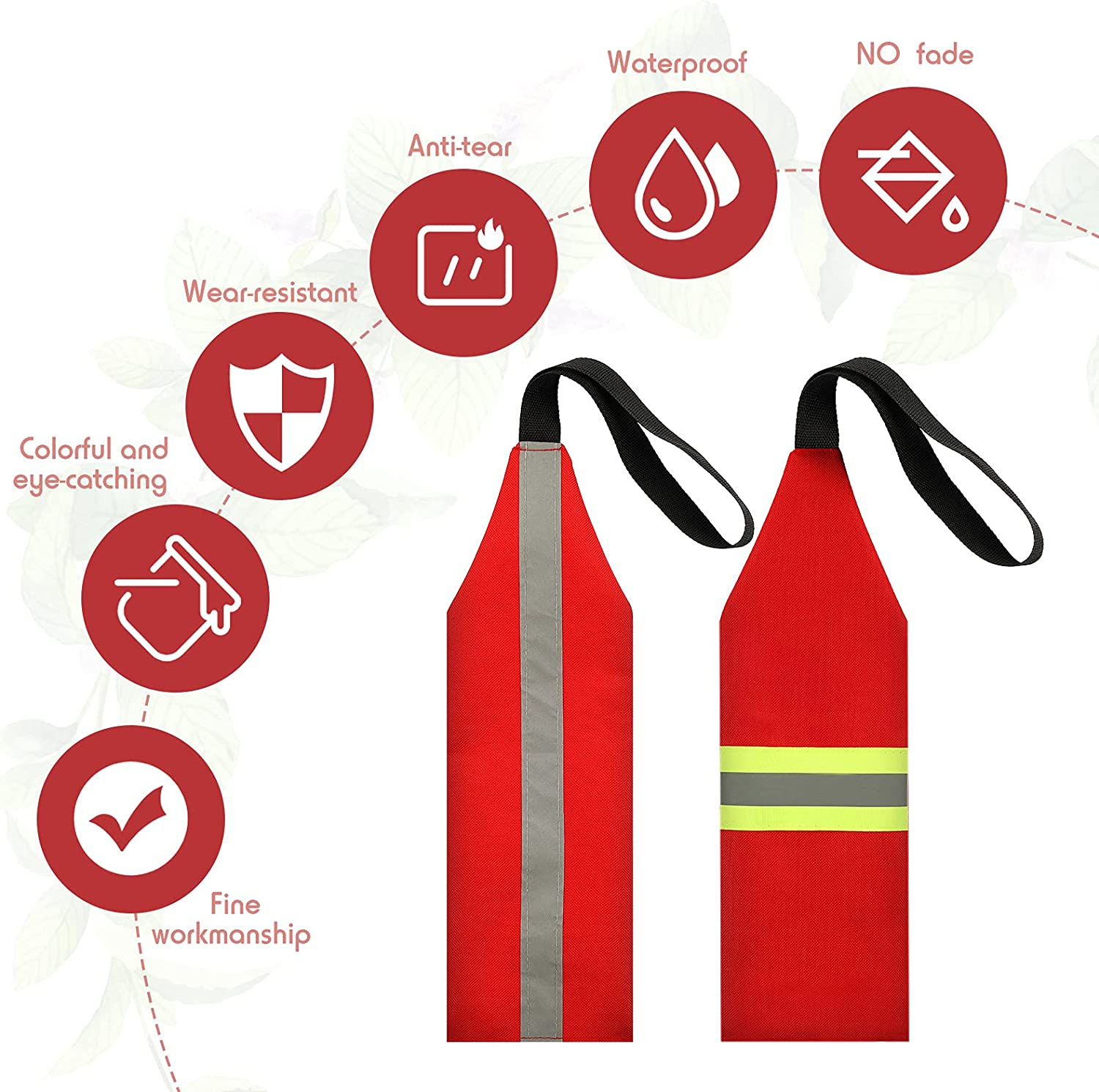 Ohmfluke 2 Pieces Safety Travel Flag for Kayak Red Canoe Safety Flag with Webbing for Kayak Canoes Towing Warning Flag Safety Accessories Flag Sign Kit Reflective