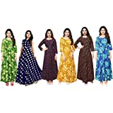 ESSEMM Cotton Stretchable Leggings for Women- Combo Pack of 6 (Multicolour, Free Size)