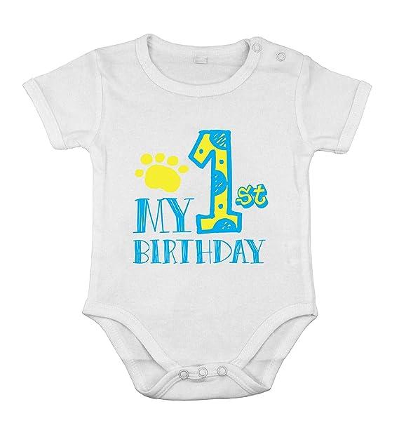 Mi Primer cumpleaños bebé recién Nacido Body de algodón niño ...