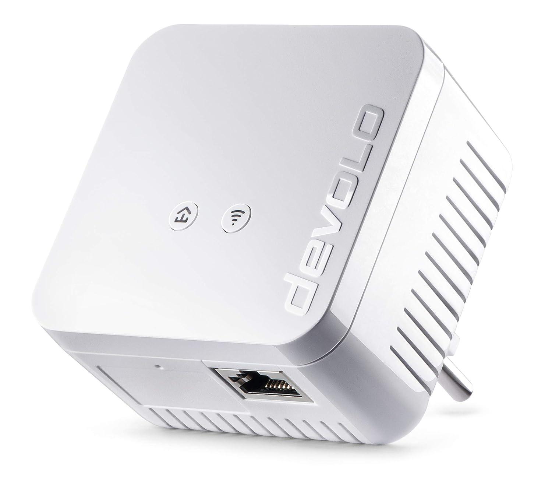 Devolo dLAN 550 WiFi PLC - Adaptador de red (Internet de 500 Mbit/s a travé s de la red elé ctrica, 300 Mbit/s a travé s de WiFi, 1 puerto LAN, 1 adaptador Powerline, adaptador de red PLC, amplificador de WiFi, WiFi Move) color blanco