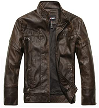 de0262fb8d24a Musamk Dashing Motorcycle Leather Jackets Men Autumn Winter Leather  Clothing Men Leather Jackets Male Business casual