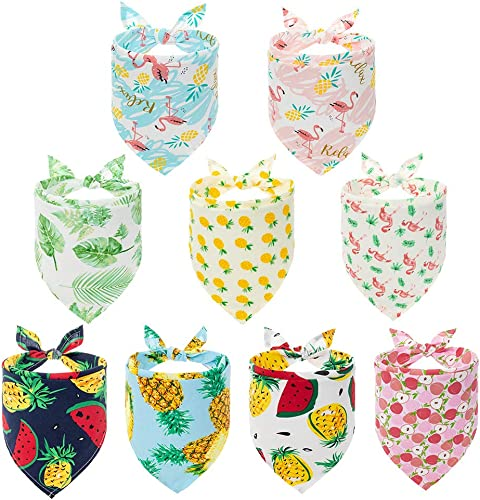 PAWCHIE Cute Dog Bandana 9 Pack