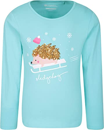 Mountain Warehouse Camiseta Sledgehog para niños - Fibras Naturales, Ligera, Transpirable y de fácil Cuidado - Ideal para Senderismo y Actividades al Aire Libre Verde Turquesa 3-4 Años: Amazon.es: Ropa y accesorios